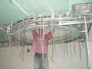 монтаж подвесного гипсокартонного потолка