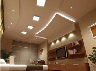 гипсокартонный потолок в зале