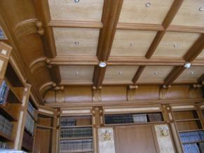 деревянный потолок в кабинете